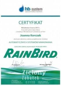 certyfikat- systemy automatcznego nawadaniania JPK
